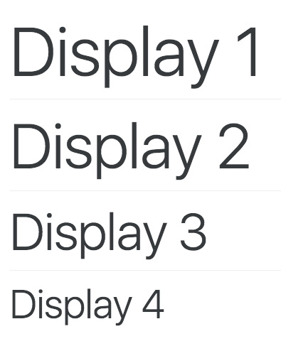display-headings