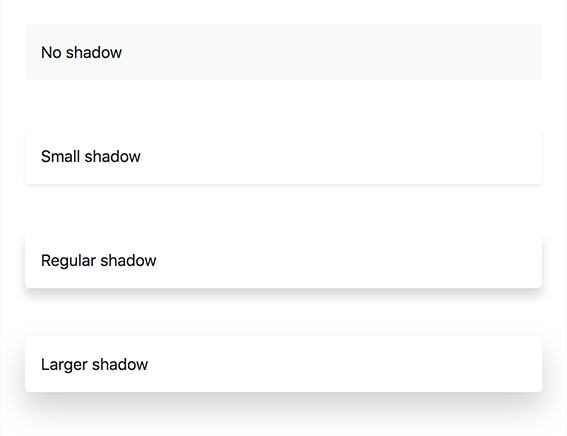 bootstrap 4 shadow class
