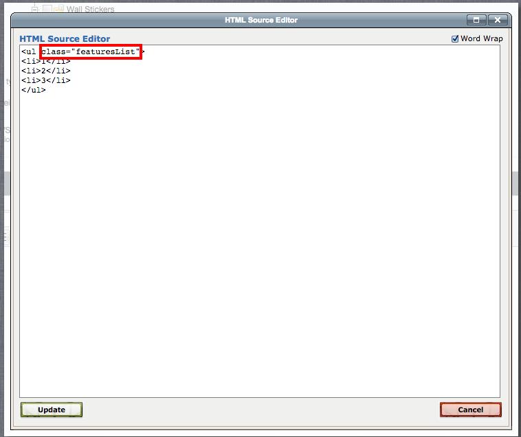 Bigcommerce HTML edit screen