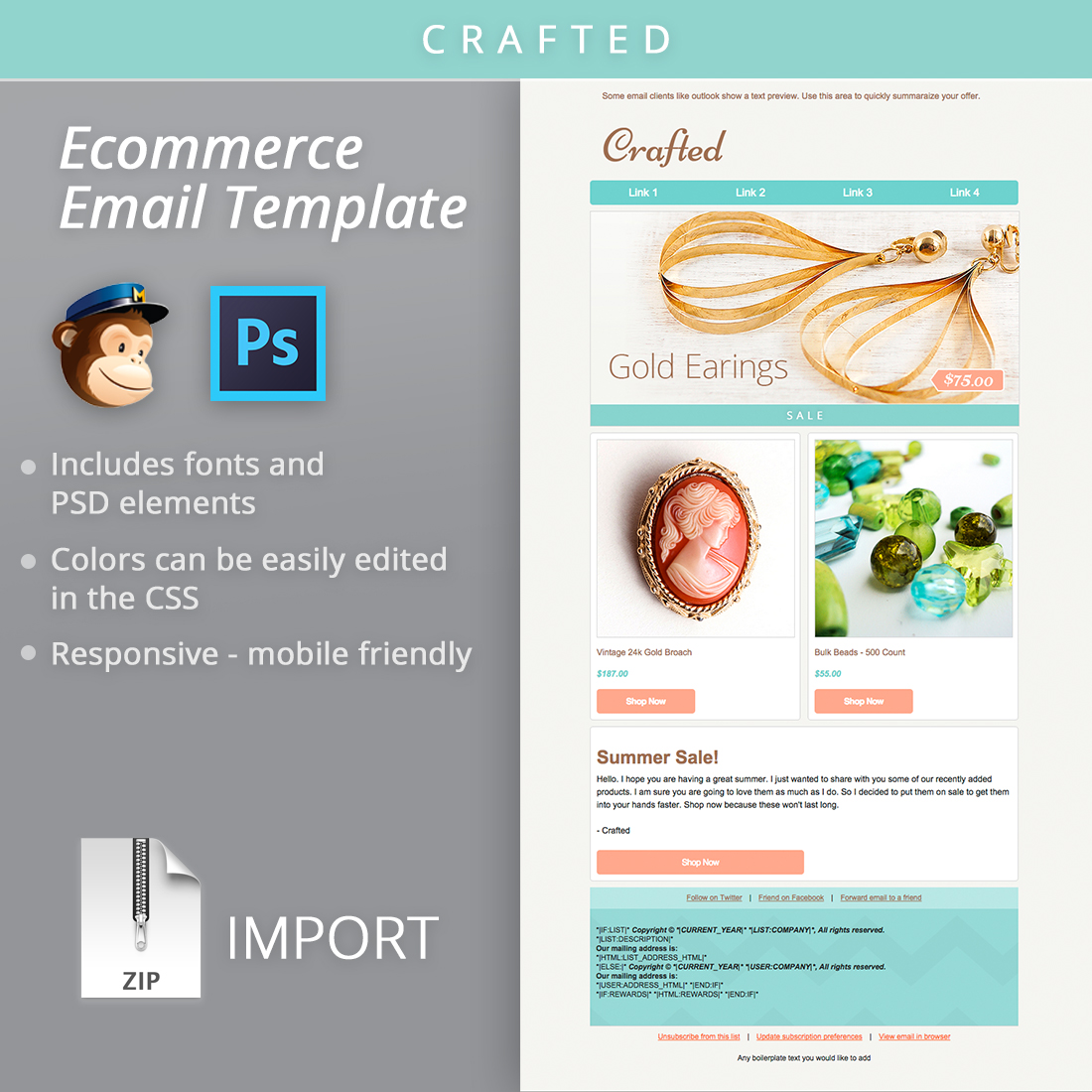 Craftedemailtemplateshop BootstrapCreative - Mailchimp newsletter templates