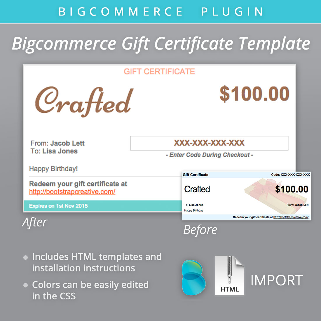 Bigcommercegiftcertificatethemedesigntemplate BootstrapCreative - Diy gift certificate template