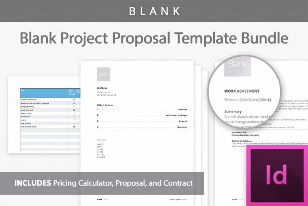 Blank Project Proposal Template Professional Business – Blank Proposal Template