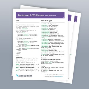 bootstrap 3 classes index cheat sheet