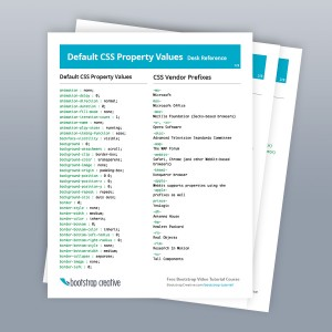 Default CSS Property Values and Selectors Desk Reference