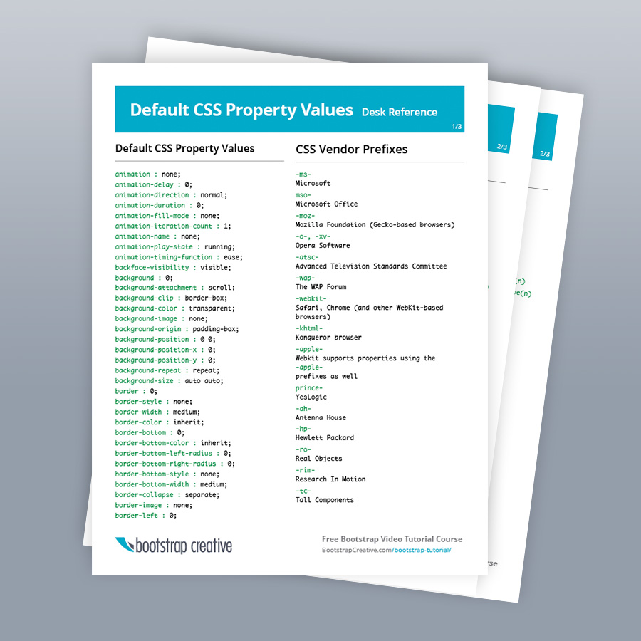 All CSS Properties List Reference PDF Cheat Sheet (Free ...