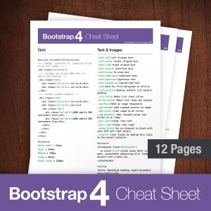 bootstrap 4 cheat sheet - classes list reference