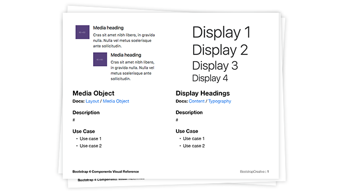 bootstrap 4 components visual reference