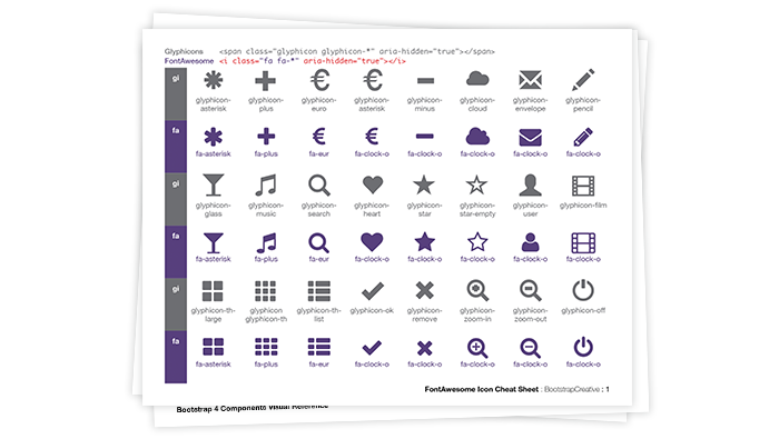 fontawesome icons cheat sheet