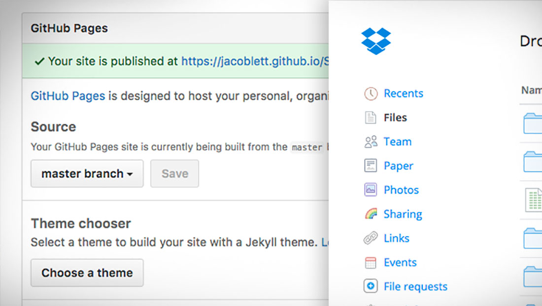 github pages prototypes