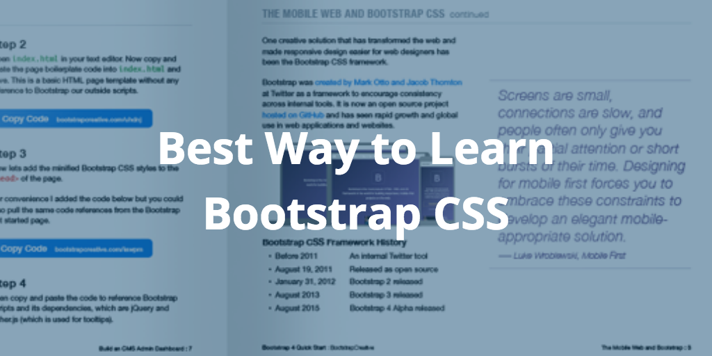 best way to learn bootstrap