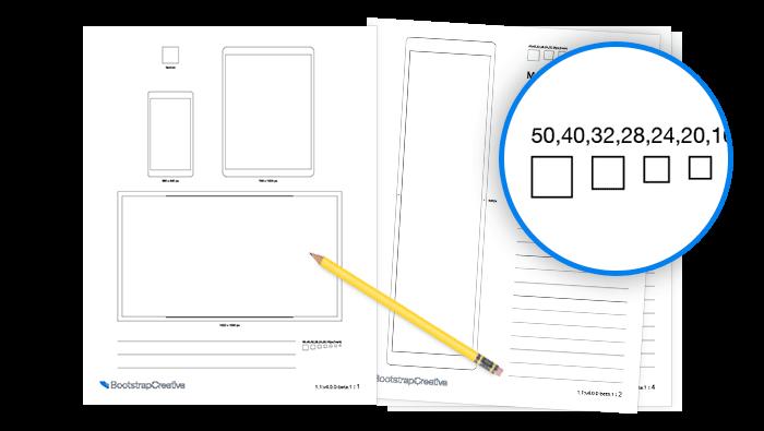 Bootstrap 4 Printable Sketch Sheets Pdf Bootstrapcreative