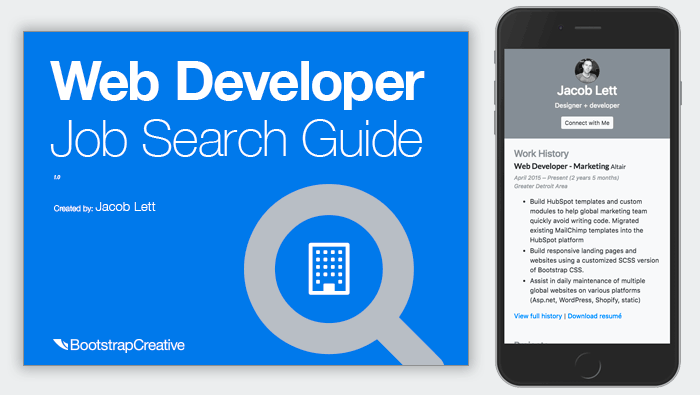 Developer Job Search Guide and Portfolio Template
